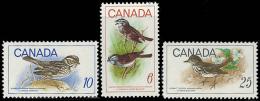 Canada (Scott No. 496-98 - Oiseaux / Birds) [**] Set - 1952-.... Règne D'Elizabeth II