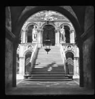 V1681 - ITALIE - VENISE - Escalier Géant Palais Ducal - Plaque Photo Originale à Ne Pas Manquer - Plaques De Verre