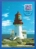 Norwegen; Maximum Card; Leuchtturm Lindesnes; 1991 - Maximumkarten (MC)