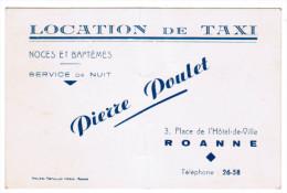 LOCATION DE TAXI NOCES ET BAPTEMES SERVICE DE NUIT PIERRE POULET 3 PLACE DE L'HOTEL-DE-VILLE ROANNE - Cartes De Visite