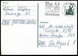 89791) BRD - Ganzsache Michel P 144 - MwST 6900 HEIDELBERG 1 Vom 04.07.92 - älteste Uni Deutschlands, Kirche - Postcards - Used
