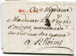 VALENCIENNES LAC Du 27/11/1766 ( Lenain N°5A) Taxée 8 Pour REIMS 2 Scans - Storia Postale