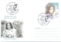 """2014. Moldova, Prep. Env.  """"Leonida Lari, Poet-She"""", FDC, Mint/** - Moldova"""