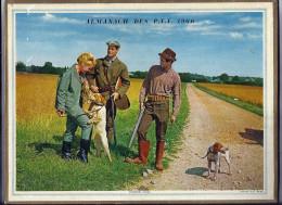 Calendrier 1966, Almanach Des PTT,postes,29 X 21,5 Cm.departement 26 Drome, Torrent De Montagne,première Pièces,chasse - Calendriers