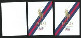 3 X Singapore Perfume Cards Carte Parfumee --  POLO RALPH LAUREN BLUE SPORT - Modern (ab 1961)