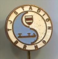 Figure Skating, TJ Stadion BRNO, Vintage Pin, Badge, Enamel - Skating (Figure)