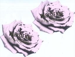 2 X Singapore Perfume Cards Carte Parfumee -- YVES SAINT LAURENT PARISIENNE - Modern (from 1961)