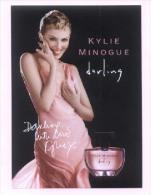 "1 X Singapore Perfume Postcard Cards Carte Parfumée -- KYLIE MINOGUE Darling (4.25"" X 5.75"") - Perfume Cards"