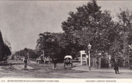 HACKNEY - SEVEN SISTERS ROAD @ WOODBERRY DOWN 1895.  REPRINT - London Suburbs