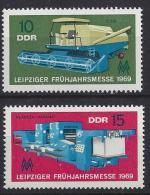 Germany (DDR) 1969  Leipziger Fruhjahrsmesse  (**) MNH  Mi.1448-1449 - [6] Democratic Republic