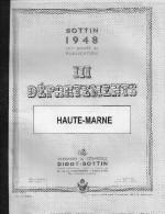 ANNUAIRE HAUTE-MARNE 52 - Année 1948 - Edition DIDOT BOTTIN 72 Pages - Annuaires Téléphoniques