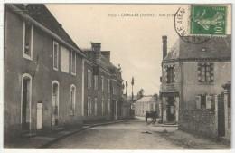 72 - CHALLES - Rue Principale - Mérel 1053 - 1908 - Autres Communes