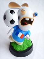 Figurine LAPIN CRETIN FOOT - COUPE DU MONDE 2010 FRANCE - UBISOFT 17 Cm - Video Games