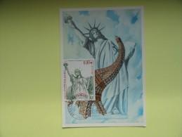 CARTE MAXIMUM MAXIMUM CARD STATUE DE LA LIBERTE FRANCE - Monumenti