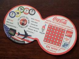 Coca-Cola 1996 Olympic Games Atlanta ( Sous Bock / Coaster / Onderlegger ) Zie Foto´s Voor Detail ! - Bierviltjes
