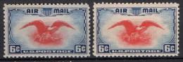 Etats-Unis - Poste Aérienne - 1938 - Yvert N° PA24 & PA24 ** Variété De Couleur - 1b. 1918-1940 Unused