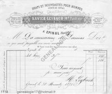 88 596 EPINAL VOSGES 1871 Draps XAVIER LEYBACH Tailleur Place Des Vosges - Frankreich