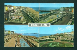 ENGLAND  -  Brighton  Multi View  Used Postcard As Scans - Brighton