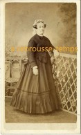 CDV Vers 1860-original-femme Drôles De Macarons Sur Oreilles-coiffure-mode Second Empire-photo Clément Lagriffe Paris - Fotos