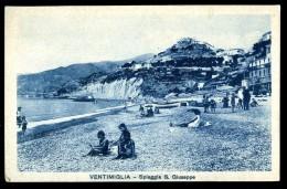 Cpa D´ Italie Ventimiglia  Spiaggia S. Giuseppe    JUIA13 - Imperia