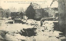 LA GRANDE GUERRE 1914 15  UNE TRANCHEE ABRI  A HEBUTERNE  AUX ENVIRONS D´ARRAS    SCANS RECTO VERSO - Guerra 1914-18
