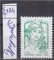 Marianne Et La Jeunesse Du Bloc Multi-impressions TVP Lettre Verte -20g 4774c Typographie Neuf - 2013-... Marianne De Ciappa-Kawena