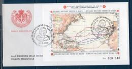 Smom 1992 -- 5° Scoperta Dell'America BF35  --- FDC. - Sovrano Militare Ordine Di Malta