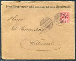 1897 Switzerland Hirsbrunner Fabrik Musikalischer Instrumente, Sumiswald Cover - Willisau / Tuba Musical Instruments - Music