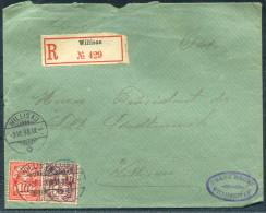 1898 Switzerland Willisau Registered Einschrebein Cover - Cartas
