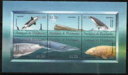 Antigua & Barbuda 2002 - Whales Sheetlet Of 6 SG3697-3702 MNH Cat £10.50 SG2015 - Antigua And Barbuda (1981-...)