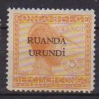 RUANDA-URUNDI 1924 SOPRASTAMPATO YVERT 50 MLH VF