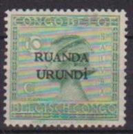 RUANDA-URUNDI 1924 SOPRASTAMPATO YVERT 51 MLH VF