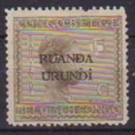RUANDA-URUNDI 1924 SOPRASTAMPATO YVERT 52 MLH VF
