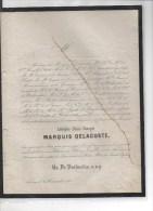 Marquis DelaCoste Adolphe ° 1800 + Chateau Sebourg 19/11/1863 Obert De La Grange Nédonchel D'Hauterive Pycke De Peteghem - Décès