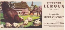 CHICOREE LEROUX 1955 FERME POULE ET POUSSINS - Food