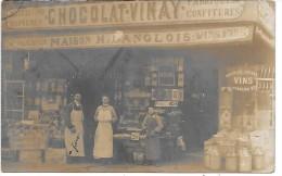 DEVANTURE DE MAGASIN - Maison H. LANGLOIS - CARTE PHOTO Non Située - Geschäfte