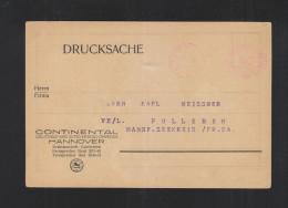 Freistempel Continental Hannover 1922 - Deutschland