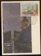 CARTE MAXIMUM CM Card USSR RUSSIA Architecture Channel Lenin Volga Don Gates Ship - 1923-1991 URSS