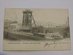 Courcelles-Motte. CPA Carte Postale. Charbonnage Puits de Falmi�e. Anim�e. Circul�e en 1905