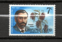 CHRISTMAS ISLAND N° 106 NEUFS SANS CHARNIERE COTE  0.20€ HOMME CELEBRE ARBRE - Christmas Island