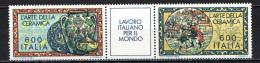 ITALIA - 1985 - SERIE IL LAVORO ITALIANO PER IL MONDO: LA CERAMICA ITALIANA - NUOVI MNH - 1946-.. Republiek