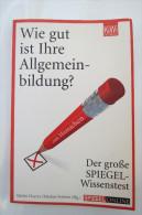 """Martin Doerry/Markus Verbert """"Wie Gut Ist Ihre Allgemeinbildung?"""" Der Große SPIEGEL-Wissenstest Zum  Mitmachen - Boeken, Tijdschriften, Stripverhalen"""