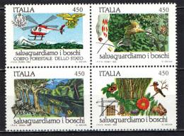 ITALIA - 1984 - SERIE SALVAGUARDIA DELLA NATURA - NUOVI MNH - 1946-.. Republiek