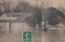 75  PARIS   CRUE DE LA SEINE   QUAI DE PASSY  LE 30 JANVIER 1910 - Alluvioni Del 1910