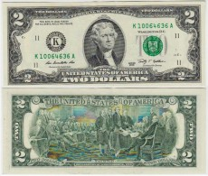 UNITED STATES USA  AMERICA  2  Dollars  2009  LETTER  K  DALLAS - Federal Reserve (1928-...)