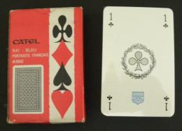 Jeu De 54 Cartes à Jouer CATEL 541 - Bleu Portraits Français King Sous Blister - 54 Cartes