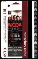 MUSIC - BIGLIETTO AUTOBUS ROMA - ATAC - METREBUS - CONCERTO DEI MODA� ALLO STADIO OLIMPICO - 11/07/2014