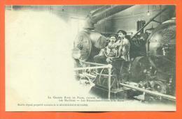 """Dpt  75  Paris """"  La Grande Roue De Paris - Les Machines - Les Mecaniciens Pilotes A La Barre """"  Carte Precurseur - Otros"""