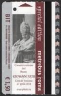 BIGLIETTO AUTOBUS ROMA - METREBUS - CANONIZZAZIONE DEL BEATO GIOVANNI XXIII - RELIGION / CHRISTIANITY