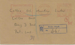 """Mauritius Maurice 1997 Rose Belle Meter Franking Neopost """"Electronic"""" RC 96 Registered Cover - Mauritius (1968-...)"""